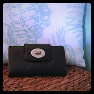 Kate Spade Black Leather Wallet -Like New